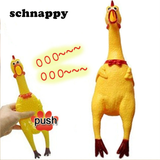 1pcs Funny Easter Screaming Mini Rubber Chicken Squeeze Toys Sound