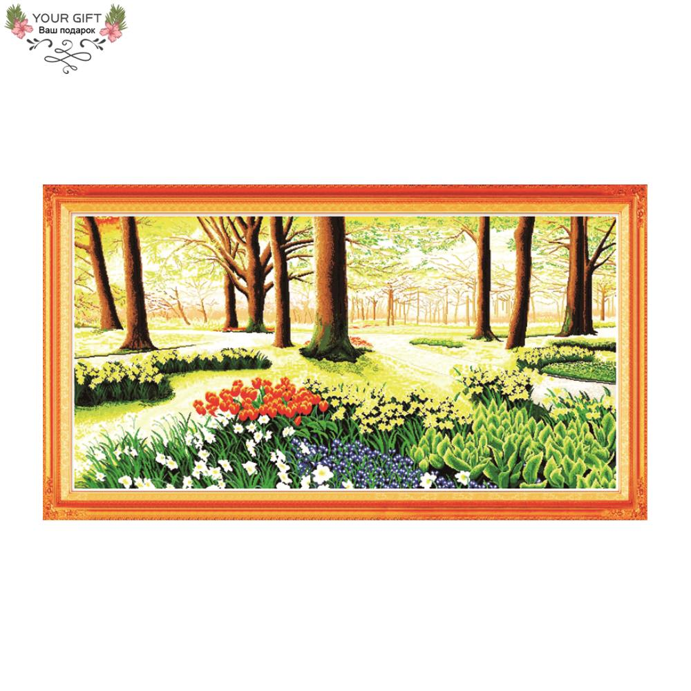 Joy Sunday Home Decor F028 Free Shipping 14CT 11CT Counted and Stamped Promised Land Needlepoints Embroidery Cross Stitch KitsJoy Sunday Home Decor F028 Free Shipping 14CT 11CT Counted and Stamped Promised Land Needlepoints Embroidery Cross Stitch Kits