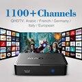 Top Quality CAIXA MAG 250 com 1100 + Canais de TV Ao Vivo IPTV Árabe Francês Céu Itália Europa Caixa De IPTV Livre grátis