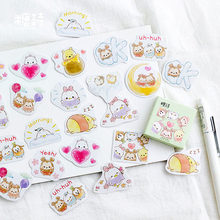 45 Pcs/pack Cute & Bear Mini Dekoratif Stiker Scrapbooking DIY Diary Album Tongkat Label Dekorasi Mahasiswa Supply(China)