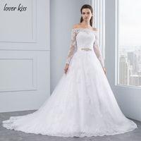 Wedding Dresses Princess Lace Alliques Bridal Bride Gowns With Veil Robe De Mariage Luxury Vintage Long