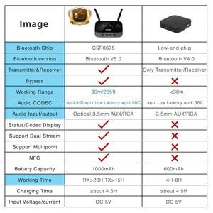 Image 5 - CSR8675 Aptx LL HD Bluetooth 5.0 émetteur récepteur Audio stéréo sans fil adaptateur RCA 3.5mm AUX SPDIF pour PC TV voiture casque