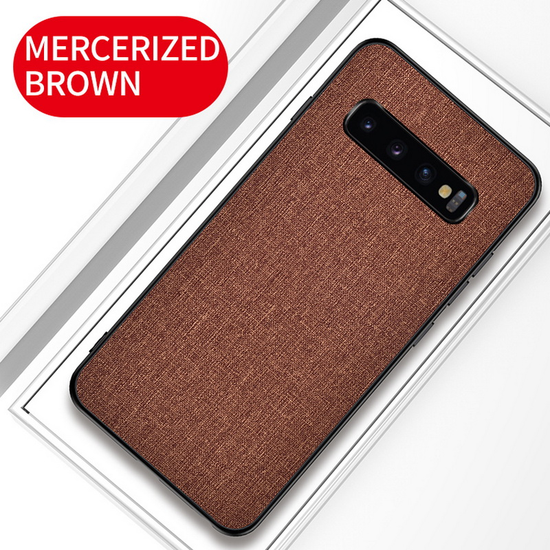 Luxury Slim Soft Fabric Cloth Back Skin Cover Coque For Samsung Galaxy S10 14