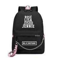 LISA Backpack WoMen Korea Student School Bag for Teenage Girls Boys Large Nylon Chain Back Pack USB Bagpack 2019