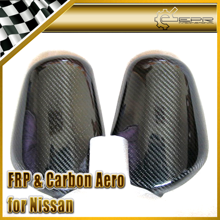 EPR Car Styling For Nissan Skyline R32 GTR GTST Carbon Fiber Mirror Cover Glossy Fibre Exterior Side Accessories Racing Trim