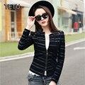 5XL Плюс размер Женщин Искусственного Кожаная Куртка Высокое Качество PU Верхняя Одежда Осень Черный/Тонкий Слой QY018