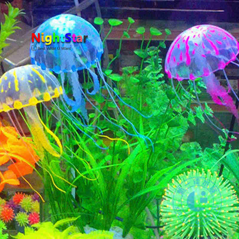 Popular artificial jellyfish aquarium buy cheap artificial for Aquarium decoration set