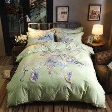 Luxury 4PCS Bedding Sets Home Textile Floral Bed Set 100% Cotton pillowcase bed cover sheet duvet linen bedclothes