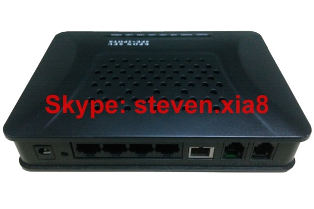 Free Shipping,4 10/100M Ethernet port and 2 FXS GEPON ONU,optical network terminal,FTTH ONT