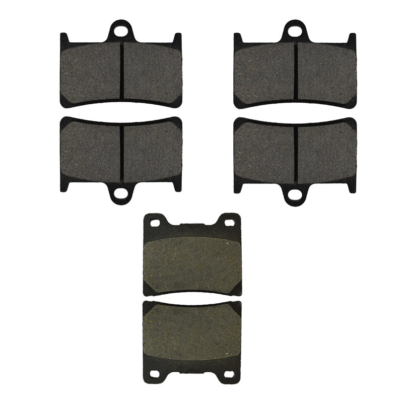 Motorcycle Front and Rear Brake Pads for YAMAHA YZF 600 YZF600 R 1997-2007 Black Brake Disc Pad motorcycle front and rear brake pads for yamaha xvs 1300 xvs1300 aw ax v star 2007 2009 black brake disc pad