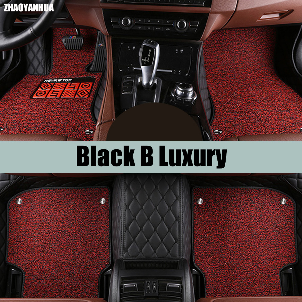 ZHAOYANHUA Car floor mats specially for Chevrolet Cruze 5D car-styling heavy duty carpet leather rugs floor liners (2009-now custom fit car floor mats for toyota yaris 3d special all weather heavy duty car styling leather carpet floor liners 2005 now