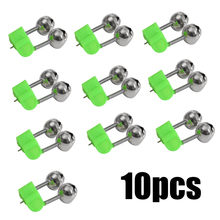 New 10pcs Rod Tip Clamp Fishing Pole Fish Bite Lure Alarm Alert Twin Bell Ring Clip J10 JUL18(China)