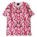 Popular Pink Thorns Rubchinskiy T Shirt Women Men High Quality Flag 100% Cotton T Shirt Yeezy Gosha thrash Thorns Supremo Tshirt