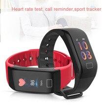 Купить с кэшбэком 2018 Smart Wristband Heart Rate Monitor Sport Tracker Sleep Tracker Call Remind Smart Watch Band For XiaoMi Fitness Tracker