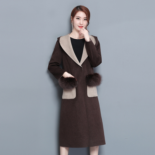 Wind Mantel Feminino Wolle Langen Casaco Strickjacke F Winter Stilvolle Herbst 6gvImb7yYf