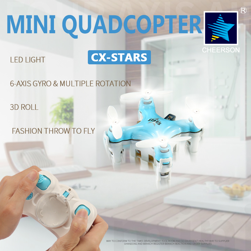 World's Small Cheerson CX-STARS  RC Quadcopter 4CH 6 Axis Gyro Remote Control helicopter FPV drone 3D fly hot Gife juncheng 3015 2 mini drone 3d flip fly 6 axis gyro 2 4g 4ch rc quadcopter