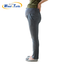 Dark Grey Good Quality Cotton Maternity Winter leggings All Match Comfortable Big Size Casual Warm For Pregnant Women