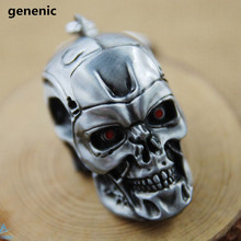 New Fashion Popular Hot Men's Gold/Silver Plated Key chain Skull Shape Cool Pendant Key ring Accessories