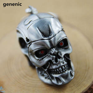 genenic Men's Key chain Skull Pendant Key ring Accessories