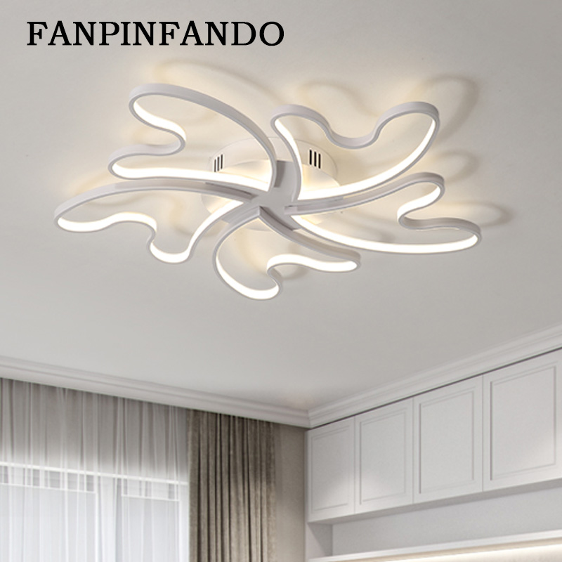 Led Ceiling Lights Modern Lamp Aluminum Remote Control Dimming Lighting Fixture Living Room Bedroom Restaurant Dining Room Light стоимость