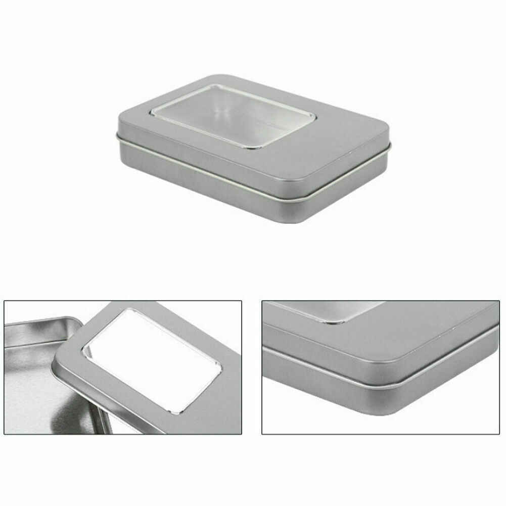 2019 Newest Hot Metal Tin Rectangle Storage Box Small Items Coin Key Containers Case Organizer
