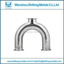 2″ 51MM OD 3 Way U Shape Sanitary Ferrule Pipe Fitting Stainless Steel 304