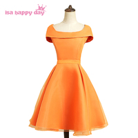 princess style lace up back tulle special occasion orange prom party dresses 2019 short please ball gowns teen dress H4120