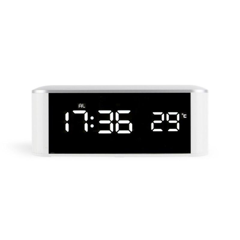 2018 nuevo reloj de escritorio LED reloj electrónico escritorio reloj de mesa Digital número reloj USB carga o AAA batería