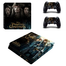 PS4 Slim Console and Controllers Skin Set Vinyl Decal Sticker for Playstation 4 Slim Console –  Pirates of the Caribbean