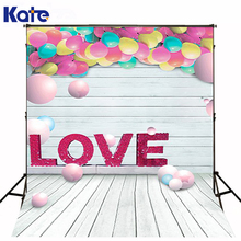200CM*150CM backgrounds Love love lovers object interaction balloon round wooden floor walls photography backdrops photo LK 1193