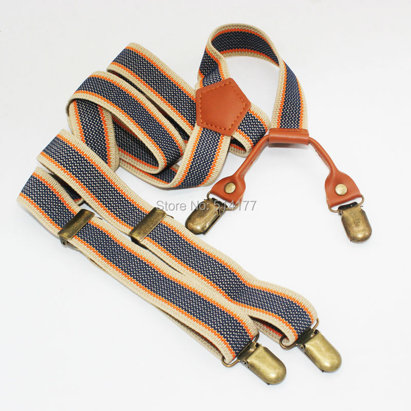 New Braces Vintage suspenders clip general casual clothing recessionista suspenders for men and women