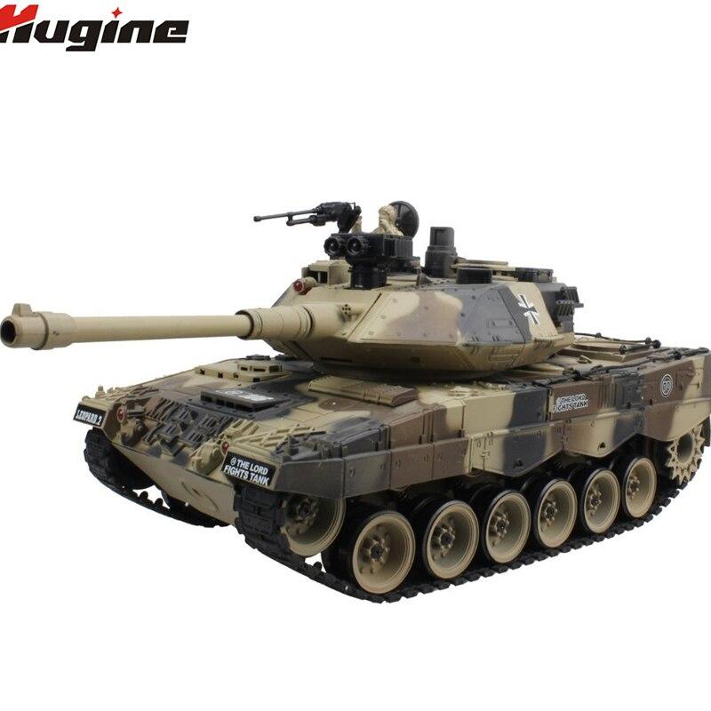 Réservoir RC Allemand Leopard 2 Véhicule Tactique de Combat Militaire Camion 15 CH 1/20 Effet coup de fouet Réservoir Modèle Électronique Passe-Temps jouets