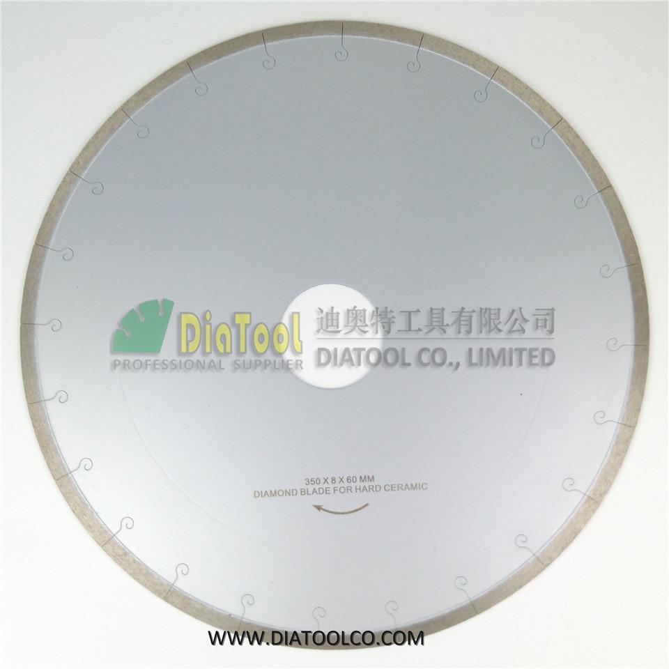 DIATOOL 2pcs 350MM Diamond Blades For Ceramic/tile With Hook Slot. Ceramic Blades With Hook Slot, Chip-free Professional Quality