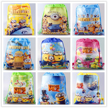 Carton non-woven fabrics of Me2 minion, drawstring backpack, event & party gift bag, shopping bag non-woven fabric