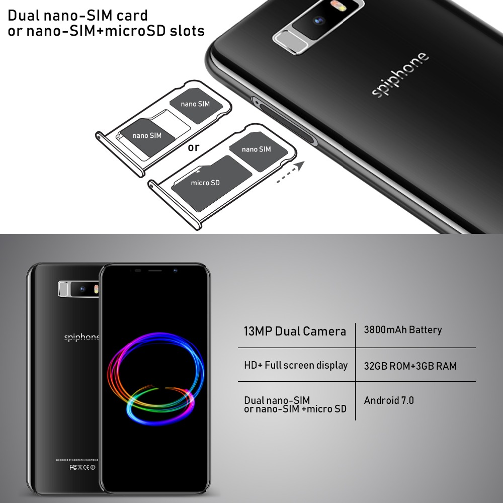 Cheap TEENO Spiphone Note 9 Mobile Phone Android 7 0 5 84