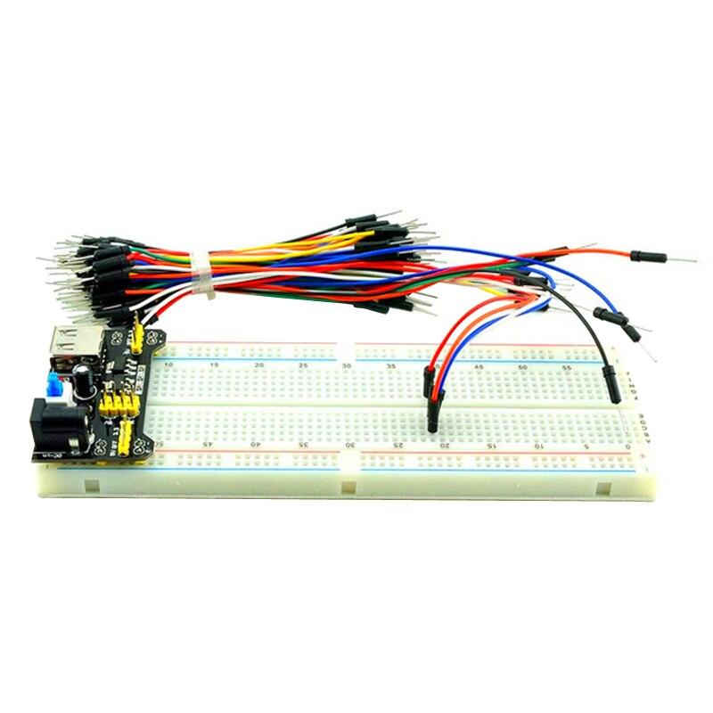 3 3V 5V Breadboard power module MB 102 830 points Solderless Prototype Bread board kit 65