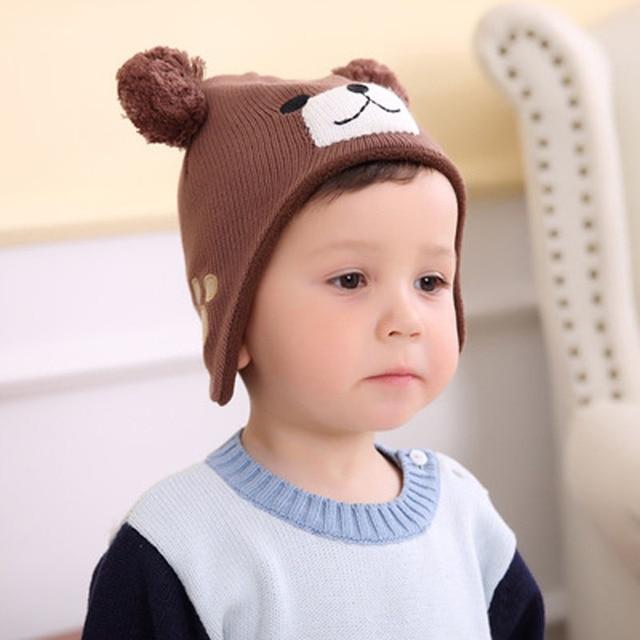 9cc899d8755 Infant Caps for Girls New Ear Care Hat Winter Crochet Custom Handmade  Knitted Caps for Boys