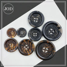 (size:15mm 23mm 25mm 30mm) Tortoiseshell Black Amber Buttons for Clothing Man Suit Coat Accessories Crafts Scrapbooking Button(China)