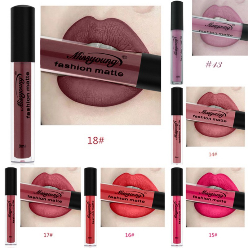 18 Colors Matte Liquid Lip Gloss Matte Lipstick Long Lasting Waterproof Makeup Women Beauty Cosmetics 2
