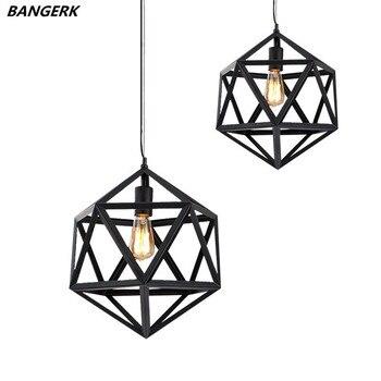 Nordic Ontwerp Edison LED Hanglamp Zwart Ijzer Opknoping Lamp Vintage Industriële Loft Lights Hanglamp Thuis Wedstrijden