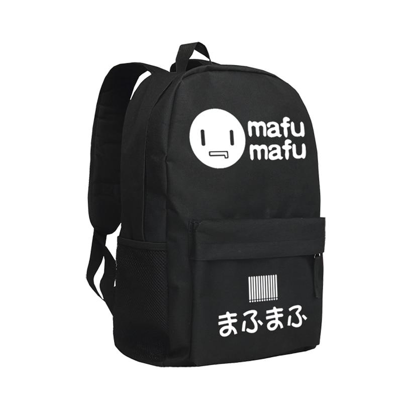 Niconico Backpack Women School Bag Boys and Girls MafuMafu Bookbags Black Large 14 Laptop Bags футболка для беременных printio свинка пеппа