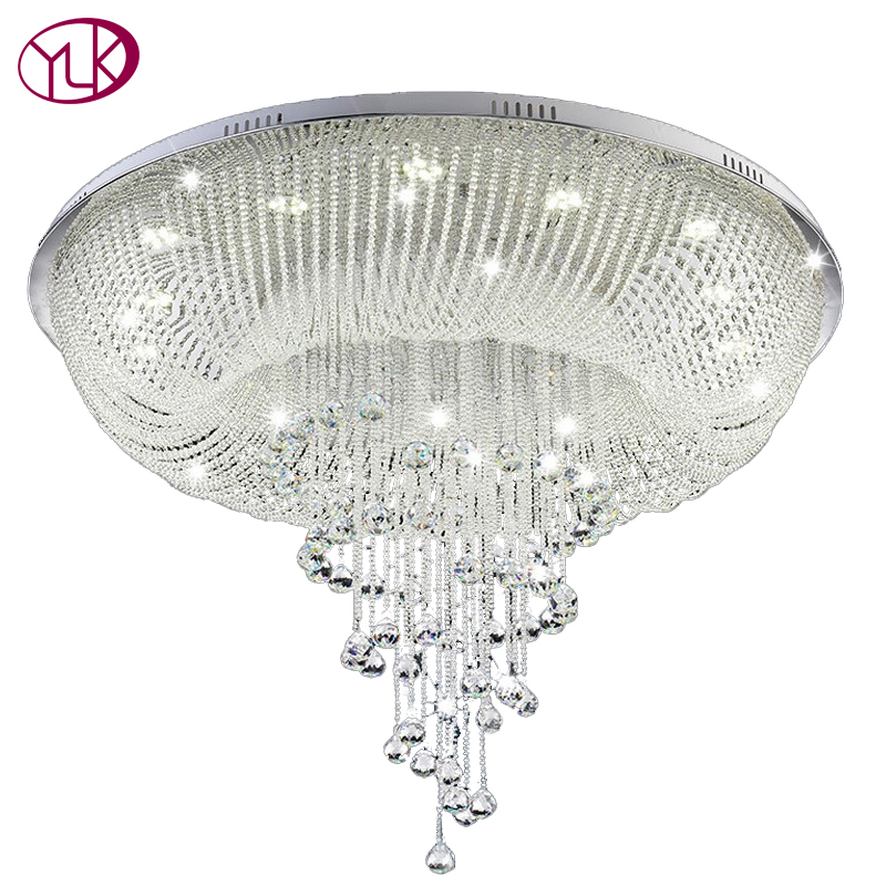 New Modern Crystal Chandelier For Ceiling Living Room Lobby Crystal Lamp Luxury Home Lighting Fixture LED Lustres De Cristal top sale luxury modern crystal chandelier for living room rectangle led lustres de cristal lamp long dining room light fixture
