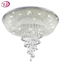 Large Modern Crystal Chandelier For Ceiling Luxury Living Room Crystal Lamp LED Home Light Fixture Round