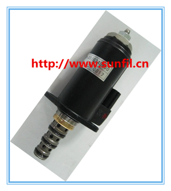цена High quality excavator SK230-6E rotary solenoid ,3PCS/LOT,Free shipping