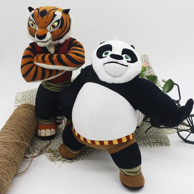 New Cute Cartoon Kung Fu Kungfu Panda Master Tigress & Po Plush Toys Lovely Stuffed Animal Doll Kids Toy Children Birthday Gift
