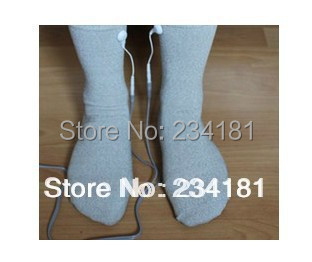 TENS,Electrode socks Silver fiber socks,care physical therapy socks, promote the blood circulation, Foot massage socks