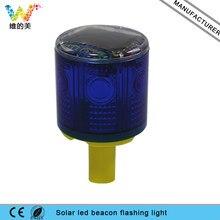 WDM iLED Güneş Enerjili Kolay Kurulum Uyarı yanıp sönen işaret ışığı çakarlı lamba Mavi