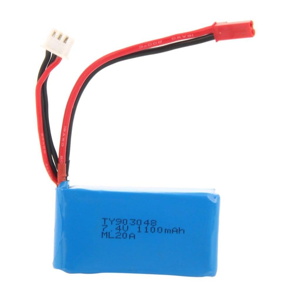 7.4 v 1100 mah Li-po Hélicoptère Batterie pour WLtoys A949 A959 A969 A979 V912 V913 V262 L959 T23 t55 F45 De Rechange Partie Rrpalcement Bl