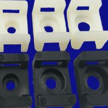 500 шт/упаковка WHC-1S черное Седло Тип крепление для 3,8 мм пластиковые кабельные стяжки фиксированное сиденье