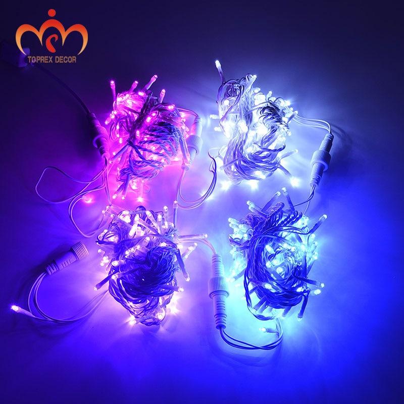 32,8 'Μήκος 100 LEDs λευκό PVC LED χορδή - Φωτισμός διακοπών - Φωτογραφία 1